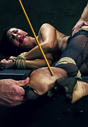 All natural 19 year old submissive training - Bound tightly, fucked hard and taught to mind her manners by The Training of O